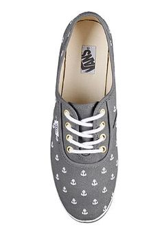 #Vans Womens Cedar anchors Grey #shoes #planetsports