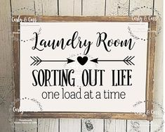 Diy wood signs home etsy ideas Wooden Signs With Sayings, Diy Wood Signs, Pallet Signs, Home Wooden Signs, Painted Wooden Signs, Laundry Room Remodel, Laundry Room Signs, Laundry Rooms, Laundry Decor