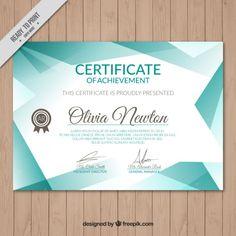 certificado de turquesa Vetor grátis