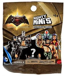 The Batman v Superman: Dawn of Justice Mighty Mini's are the perfect size for lots of DC Comics action. Each figure features pop joints which means they can be mixed and matched to create a modified s