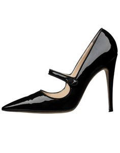 Manolo Blahnik Patent Leather Mary Janes.  Covetable.