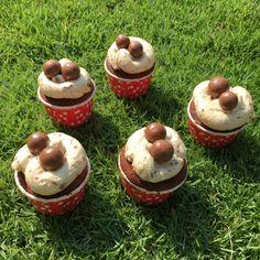 Maltesers chocolate cupcake