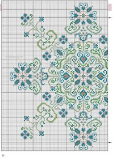 Cross-stitch Decorative Snowflake, part 1... color chart on part 2... Gallery.ru / Фото #7 - 30 - elena-555