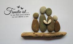 Weiteres - Bild aus Kieselsteinen *Familie ist .... * - ein Designerstück von TAMIKRA-Art bei DaWanda