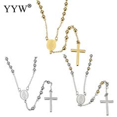 Fashion Stainless Steel Jewelry Necklace Sweater Necklace Cross for Women Necklaces & Pendants //Price: $US $5.20 & FREE Shipping //     #hashtag2