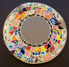 Mosaic mirror for Pat M.