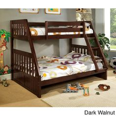 Canberra Twin Over Full Bunk Bed | Overstock™ Shopping - Great Deals on Kids' Beds