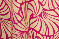 Japanese Fans from Florence Broadhurst via Signature Prints #fabric #silk #pink