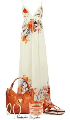 They are airy and stylish. Maxi dress outfits are starring both in morning appearances on the beach or around town, and on women outfits i. Mode Outfits, Dress Outfits, Fashion Outfits, Womens Fashion, Dress Fashion, Fashion Ideas, Wearing Dresses, Fashion Tips, Polyvore Outfits