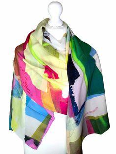 Irish Design, Scarf Design, Cashmere Scarf, Wearable Art, Sustainable Fashion, Luxury Branding, Vibrant Colors, Scarves, Silk