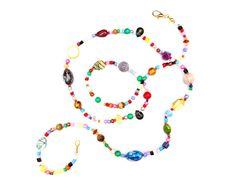 RandomJane made in Vienna colorful beaded hippie necklace by Aerosvar