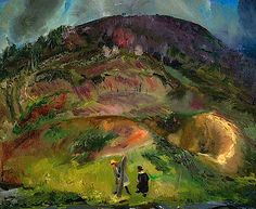 George Bellows - Children and Mountain