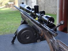 Mossberg MVP with 100 rd drum mag (Photo Credit Jow Grine)  For those to REALLY hate to reload.