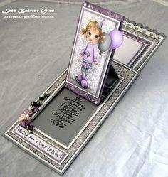 Lena Katrine`s Scrappeskreppe: DT Sketchy Colors - Challenge #119: Purple, Silver & White
