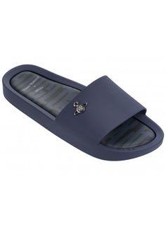 03dd91e105e9 Vivienne Westwood Beach Slide Navy Matte Orb