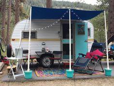 Rv Makeover, Vintage Campers, Salon Ideas, Camping Ideas, Camper Van, Glamping, Caravan, Trail, Vans