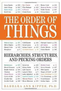 The Order of Things: Hierarchies, Structures, and Pecking Orders - by Barbara Ann Kipfer