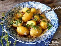 Fransk potetsalat - Fra mitt kjøkken Potato Salad, Potatoes, Baking, Fruit, Ethnic Recipes, Food, Bakken, Eten, Bread