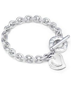 Tiffany & Co Double Heart Toggle Bracelet