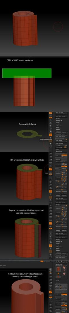 Zbrush and sharp edge - Polycount Forum