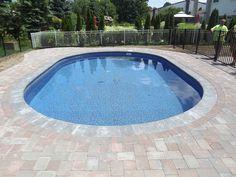 Brick paver patio and pool. Isn't it beautiful!