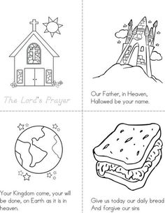 The Lord's Prayer Book - Twisty Noodle Bible Stories For Kids, Bible Story Crafts, Bible School Crafts, Bible Lessons For Kids, Bible For Kids, Kids Sunday School Lessons, Sunday School Activities, Bible Activities, Sunday School Crafts