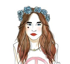 Nasty Gal Galaxy Tee and Lana Rose Crown By Ambre Clavel