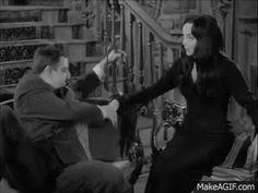 Gomez and Morticia The Addams Family 1964, Addams Family Tv Show, Family Tv Series, Adams Family, Los Addams, Morticia And Gomez Addams, Charles Addams, The Originals Show, Dark Love