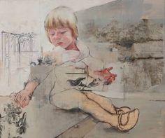 """Saatchi Art Artist Pilar Lopez Baez; Painting, """"Las flores del muro"""" #art"""