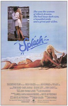 (1984) ~ Tom Hanks, Daryl Hannah, Eugene Levy. Director: Ron Howard. IMDB: 6.2 * ___________________________ http://en.wikipedia.org/wiki/Splash_(film) http://www.rottentomatoes.com/m/1019641-splash/ http://www.tcm.com/tcmdb/title/91096/Splash/ Article: http://www.tcm.com/tcmdb/title/91096/Splash/articles.html http://www.allmovie.com/movie/splash-v46141 http://www.rogerebert.com/reviews/splash-1984