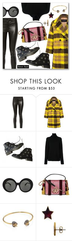 """Street Style Look"" by dressedbyrose ❤ liked on Polyvore featuring J Brand, Pink Tartan, Yves Saint Laurent, Chloé, Linda Farrow, Dsquared2, Gucci and Marc Jacobs"