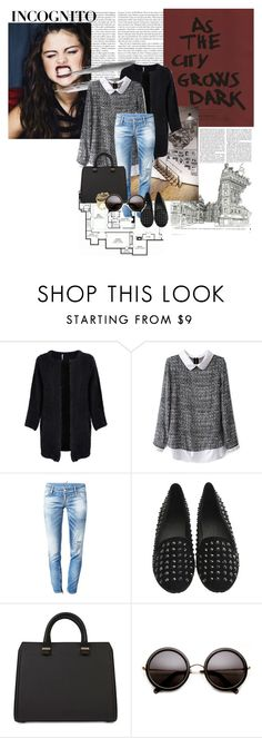 """""""INCOGNITO"""" by xmyrab ❤ liked on Polyvore featuring Poolhouse, Victoria Beckham, Traits, Dsquared2 and C. Wonder"""