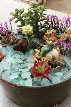 You'll Want These DIY Mermaid Gardens to Be a Part of Your World