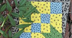 "1880 Sampler Sew Along +  +  +  +  +  +  +  + from green print cut the following: 2 | 1-1/2"" squares 2 