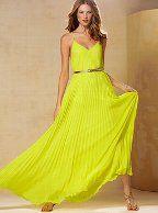 Knife-pleat Maxi Dress. stunning