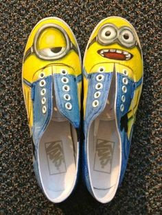 Minion shoes!! The creator is a genius