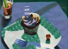 Cupcake- original acrylic painting