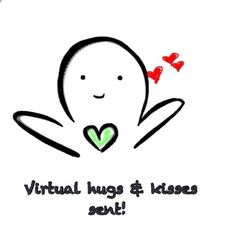 Virtual hugs and kisses to all that need it! Hug Meme, Kiss Meme, Digital Vision Board, Hug Quotes, Virtual Hug, You Are Special, Wishes Messages, Cute Memes, Big Hugs