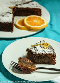 Orange Hazelnut Olive Oil Cake #gfree