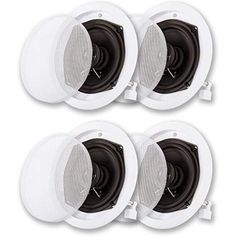 Acoustic Audio In Ceiling / In Wall Speaker 2 Pair Pack 2 Way Home Theater, White In Wall Speakers, Ceiling Speakers, Audio Room, Surround Sound, 2 Way, Audio System, Home Theater, Walmart Shopping, Acoustic