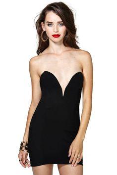 Nasty Gal Helix Dress - Black