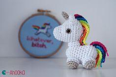Tiny unicorn amigurumi by Ahooka