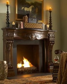 Ambella Home Woodard Fireplace Surround. h1Ambella Home Woodard Fireplace Surround_h1Ambella Home Woodard Fireplace Surround.The Woodard Fireplace Surround is an artful piece of woodworking. Recalling a time when master craftsmen produced a piece of superior qua.. . See More Mantels at http://www.ourgreatshop.com/Mantels-C1052.aspx