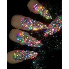I put my nail polish like a pro! - My Nails Rhinestone Nails, Bling Nails, Glitter Nails, Purple Nails, Sparkly Acrylic Nails, Matte Nails, Bling Bling, Sexy Nails, Dope Nails