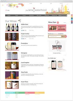 winesisterhood site redesign