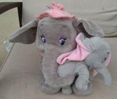 Amazon.com: Disney Park Baby Dumbo and Mother Mrs. Jumbo Plush Doll Set of 2 NEW: Toys & Games