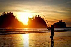 Fishing in La Push, Wa. Photo Credit- B Fox Photography  www.WashingtonStateDestinations.com