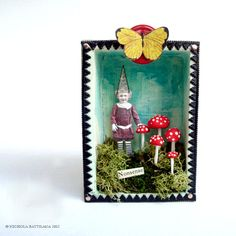 Little Altered Art Nonsense Fairy Shrine  by PixieHillStudio