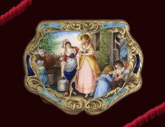 Italian silver enamel compact | Flickr - Photo Sharing!