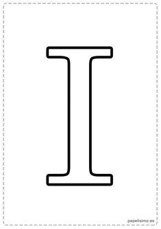 I Abecedario letras grandes imprimir mayúsculas